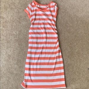 Maternity coral stripped dress